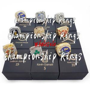 Atacado Campeonato Anéis Basketball Champion Ring Set Combinação Souvenir Fan presente Europa e América alta qualidade Anéis de liga