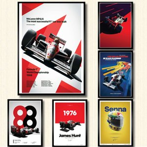 Poster And Prints Hot Ayrton Senna F1 Formula World Champion Wall Art Canvas Picture Painting Modern For Home Room Decor