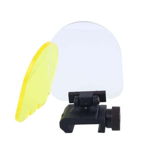 Hunting Shooting Eye Protector Kit Foldable Sight Scope Lens Screen Protector Cover White & Yellow Shield And Rail Mount