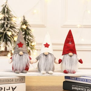 regalo di Natale di Santa della bambola della peluche No Face mano scandinavo Elf Nano decorata Casa decorata di Natale la volontà e la sabbia nuovo