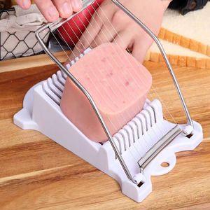 Luncheon Slicer вареное яйцо Фрукты Тесак из нержавеющей стали Мягкая Food Cheese Sushi Cutter Консервированные Meat режущий инструмент
