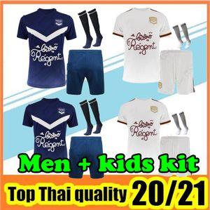 20 21 بوردو بالقميص لكرة القدم 2020 2021 مايوه دي القدم بوردو البيت الأزرق بعيدا أبيض الرجال الاطفال الزي الرسمي لكرة القدم عدة