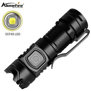 Alonefire X016 SST40 Super helle Mini-USB aufladbare beweglichen wasserdichten Outdoor-Camping-Leistungsstarke LED-Fischen-Ligh