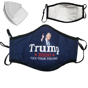 US Election Trump Biden Cotone Mask I Cant Breath Keep America Great Again antipolvere lavabile traspirante Inquinamento Bocca Covers filtri