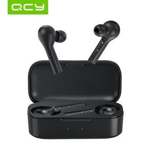 cgjxs QCY T5 5 Bluetooth 0.0 Wireless Auriculares Deporte de auriculares de control táctil usar cómodo con el doble micrófono