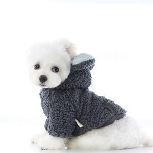 Designer Puppy Hoodies Brand Winter Dog Cat Coats Poodle Bichon Bulldogteddy Schnauzer Pets Jackets 2 Colors