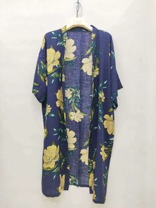 printed popular printed with Shawl Style popular rayon Style placket with placket Rayon kimono shawl kimono MfTAK
