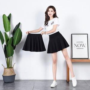 I3nFU alta cintura linha A- anti-exposição calças de segurança dança calça quadrada de segurança plissado SKIRT- saia A plissada saias emagrecimento LINHA