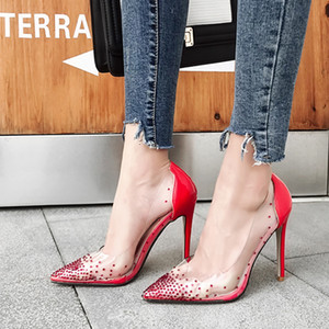 Hot sale-A hot seller of transparent rhinestones with pointed toes and shallow heels