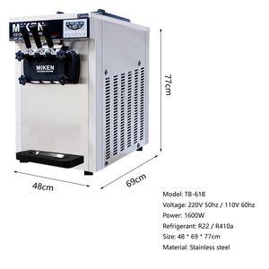 CE certificado Ice Cream Maker três sabor de gelo suave creme de máquina de fábrica de fornecimento directamente máquina de sorvete