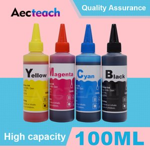 Aecteach Струйные принтеры Kits 100мл Dye Ink Kit Refill для Canon для принтеров Brother картриджи СНПЧ Вур