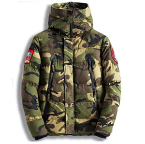 Winter Coats Long Sleeve Hooded Thick Male Cotton Coats Casual Warm Male FW Outerwear Camouflage Designer Men