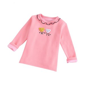 Three-dimensional love smile Baby Girls Sweaters Kids Sweaters For Winter Knitted Bottoming Wave Pattern Sweater Blouse 1d6