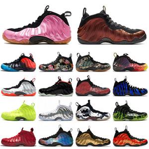 nike air foamposite pro penny hardaway ArPenny Foamposite Pro Volt Preto 2020 New Quality tênis de basquete meninos azul brilhante carmesim Floral Trainers Mens Sport Shoes