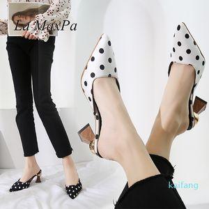 Hot sale-Women Slippers Leopard Pointed Toe Mule Shoes Ladies Slides Female Open Heels Shoes Close Toe Sandals Women New Slippers Sandals
