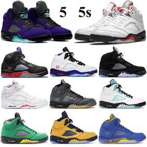 2020 Jumpman Blancx 5 5s Basketball Chaussures Hommes Femmes voile raisin Autre Bel feu rouge d'argent Tongue 2020 noir Baskets Sneakers mousselines