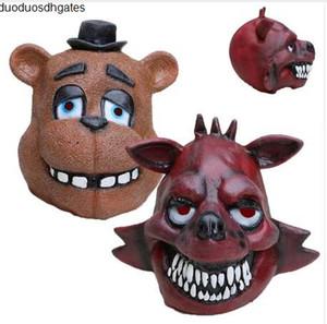 Nuits au Masque de Freddy Fnaf Cinq Foxy Chica Freddy Fazbear Ours Masque cadeau pour les enfants Halloween Party Décorations Supplie