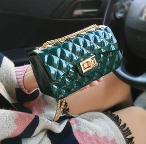 Hot Brand PVC Leather Messenger Bags Shoulder Bag Quilted Designer Handbags Women Bag Vintage Small Jelly package