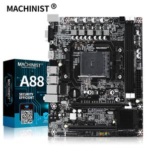 MACHININST AMD A88 Motherboard Unterstützung Sockel FM2 FM2 + Prozessor und DDR3-RAM mit VGA HDMI PCI-Steckplatz ZX-A88M2 + Desktop-Mainboard