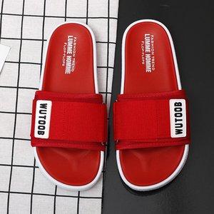 Ifrich Новый номер Ванная Красный Вьетнамки Мода бассейн Mens Casual обувь мягкой подошве Тапочки мужчин