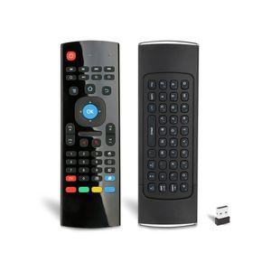 Flyg Air souris MX3 Mini-clavier sans fil avec l'apprentissage IR Apprentissage 2.4GHz 6 Axe Télécommande pour Android TV Box PC