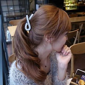 estilo de pelo sencilla acrílico coreana del Rhinestone incrustaciones de cola de caballo de plátano de los accesorios de plátano clip de las mujeres del todo-fósforo accesorios clip de cero en la cabeza c