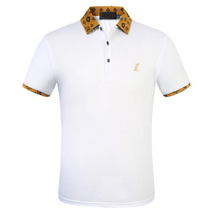 2020 commercio all'ingrosso di lusso della Cotton Polo Uomini High Street Fashion piccola ape polo di stampa Mens Desginer polo di marca t-shirt FW.01