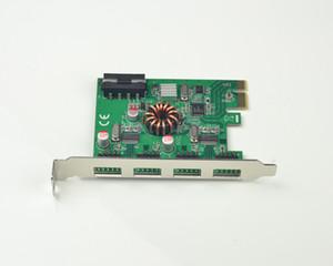 PCI-E tarjeta de expansión USB 2.0 externo 4x 9PIN cabecera de 8 puertos USB 2.0 a concentrador USB adaptador de tarjeta PCIe
