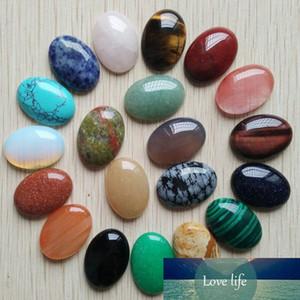 El envío libre 20pcs / lot de piedra natural 18x25m Venta al por mayor caliente Beads Teardrop Cabochon Cab Mixta oval para la joyería que hace J190626