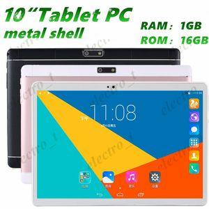 10 inch Tablet Pc metal shell MTK6582 Quad Core Android 5.1 dual card 3G call 1280 *800 IPS HD Display screen Dual Camera 1GB 16GB MQ20
