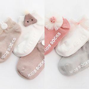 40o6x Baby-Fußboden Kinder dünnen board Socken Baumwolle rutschfeste Boot und Sommermädchen Neugeborenen Frühling Sommer Boot Socken 0-6-12