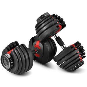 Ayarlanabilir Dumbbell 2.5-24KG Fitness Egzersizleri Dumbbells Ağırlıkları Kaslarınızı Yapın Açık Spor Fitness Ekipmanları Deniz Taşımacılığı 2 adet
