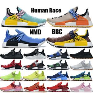 US12 NMD raza humana de los hombres de los zapatos corrientes Pharrell Williams de China Paquete Feliz Paz PW Hu Pharrell solar conjunto para la madre Naranja rojo de las mujeres zapatillas de deporte