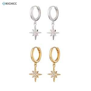 Kikichicc 925 Sterling Silver Gold Pendiente Flower Drop Earring Snow Flower Dangle Charms Women Luxury CZ Zircon Jewelry 200923
