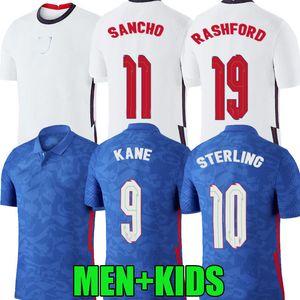 2020 2021 angleterre maison maillots de football à l'extérieur 20 21 kane STERLING SANCHO Rashford DELE inglaterra camisetas de Fútbol hommes chemises enfants de football