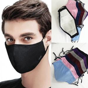 Máscaras de DHL diseñador de la máscara facial reutilizable lavable anti del polvo del algodón boca con PM2,5 Filtros de carbono Máscaras de bolsillo ajustable de tela Earloop