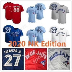 Personalizzato Toronto 2020 Blue Jays Jersey Bo Bichette Vladimir Guerrero Jr. Cavan Biggio Hyun-Jin Ryu Yamaguchi Randal Grichuk Drury Hernandez