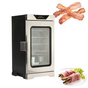 2020 acier inoxydable 220v machine à fumer alimentaire poisson poulet électrique intelligent ménages petit four Bacon commercial / viande fumée four