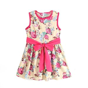 Girls Flower Princess Party Kids Formal Sleeveless Floral Dress retro and sweet style bebe dress July20