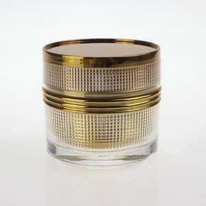 50g Empty Skin Care Acrylic Cream Container with Gold Cap for Sale