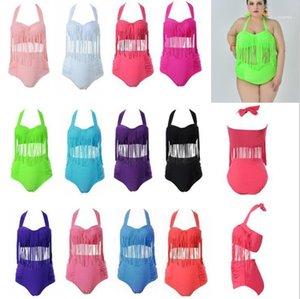 Sets Sommer Quasten Designer Sexy 2ST Bikini-Sätze Frauen Kleidung Plus Size Bikini