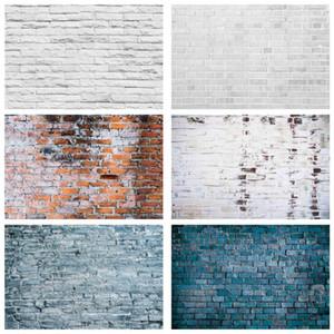 Fotoğraf Stüdyosu Fundo Fotografia Kamera için Gri Beyaz Tuğla Duvar Fotoğrafçılık Arka Vinil Bezi Fotoğraf Arka planında