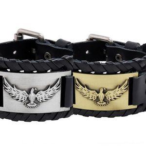 2020 in pelle in pelle intrecciata New Viking braccialetto pirata bovina personalizzato braccialetto Nordic maschile u1kmD