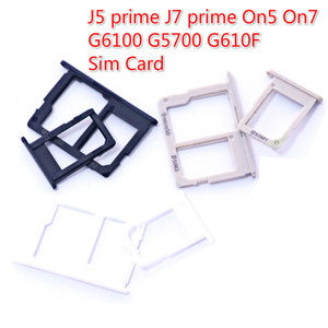 100PCS LOT SIM Holder Slot Adapter For Samsung Galaxy J5 prime J7 prime On5 On7 G6100 G5700 G610F Sim Card Reader Holder Slot Connector