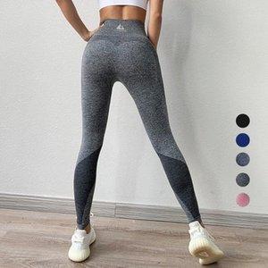 Yoga Pants Tummy Control Women's High Waist Waisted Colour Block Sports Leggings Workout Pants for Women 4 Way Stretch