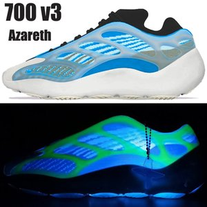 New kanye 700 v3 Mensschuhe Azareth Azael Alvah OG reflektierende Außen Männer Frauen Trainerturnschuhe mit Kasten US laufen 5-11