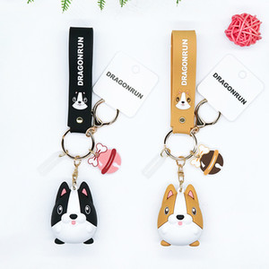 New Arrival Car Retro Vintage Charm Genuine Creative Drop Glue Doll key Chain Dog Cartoon Toy Pendant Small Ornament Women Gift