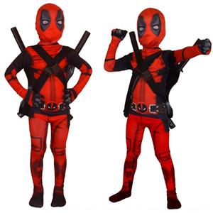 Les costumes monopièce pour Deadpool et filles et collants garçons pour Deadpool cosplaywear de f37oM costume enfants pour les enfants