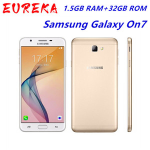 Original Samsung Galaxy On7 2015 G6000 5.5Inches 1,5 GB RAM 16GB ROM LTE 4G 13.0MP Octa Núcleo Fingerprint Mobile Phone