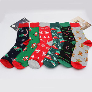 Christmas Socks Cartoon Cotton Stocking Women Men Casual Cartoon Christmas Stockings Xmas Sport Home Festival Colorful Socks DHC4346